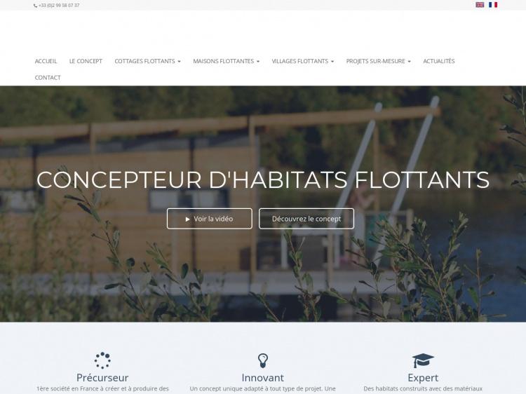 Maisons écologiques flottantes et originales : Aquashell
