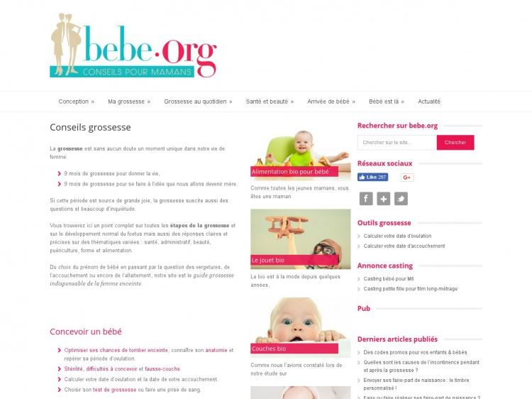 Bebe.org : le portail de la grossesse