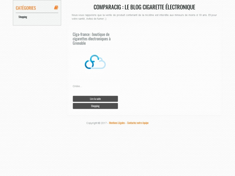 Comparacig : blog collaboratif consacré à l'e-cigarette