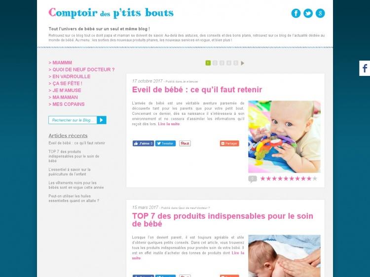 Comptoir des petits bouts : le blog de bébé pour les parents