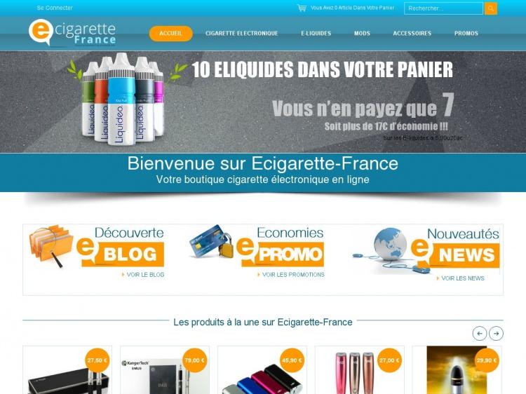 Ecigarette France : boutique en ligne de cigarettes électroniques