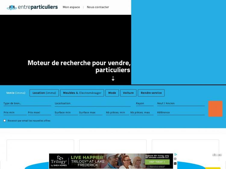 Transactions immobilières entre particuliers : EntreParticuliers.com