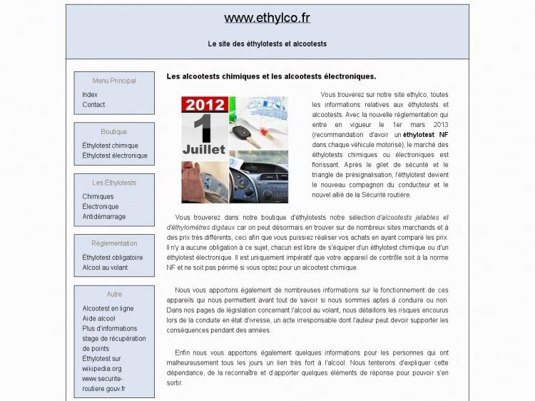 Les éthylotests chimiques et électroniques sur Ethylco.fr