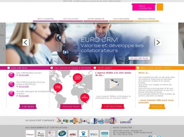 Euro CRM : services d'externalisation de la relation client