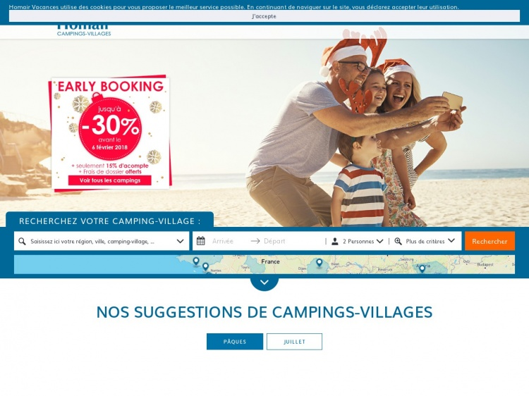 Homair : 120 camping villages à votre disposition