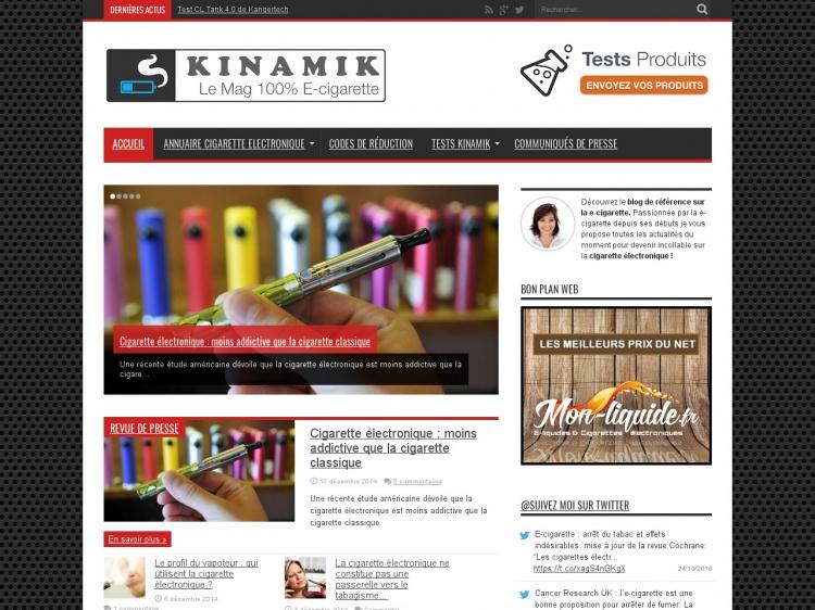 Kinamik : portail consacré à l'e-cigarette