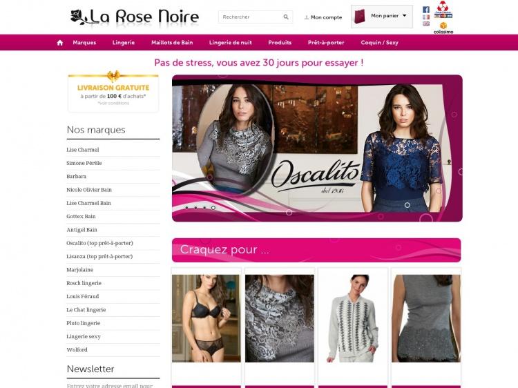 La collection Lise Charmel chez La Rose Noire
