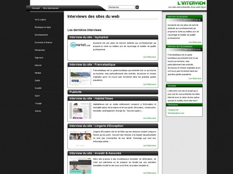 Linterview.com : faire connaître son site facilement