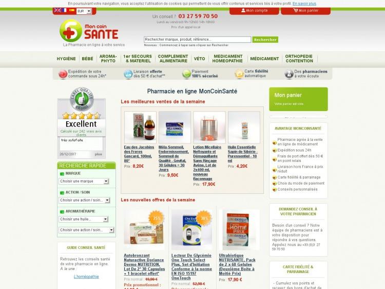 MonCoinSante.com : vente en ligne de médicaments