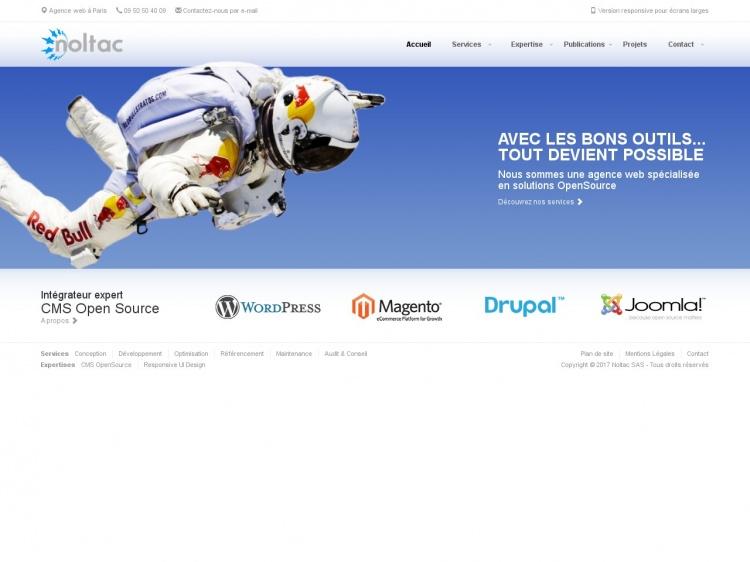 Noltac – Agence web experte des CMS open source
