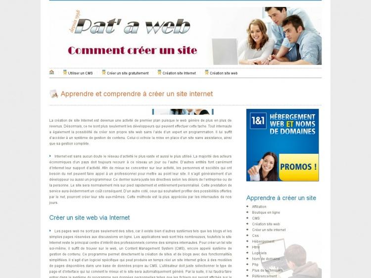 Pataweb : votre guide en ligne pour créer un site