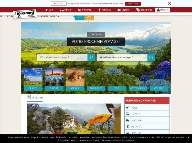 Routard.com : Tout pour préparer votre futur voyage