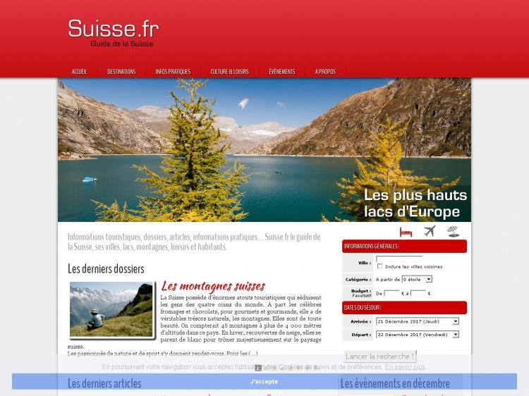Suisse.fr, guide de la Suisse