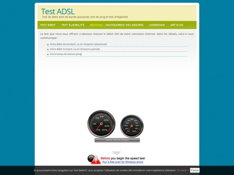 Mesurez votre bande passante sur Test-Debit.fr