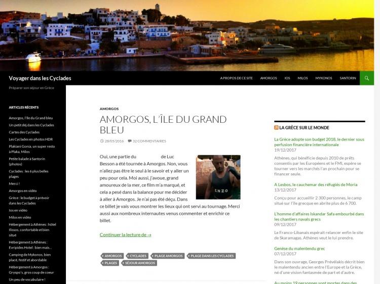 VoyageCyclades.fr : préparer son séjour en Grèce
