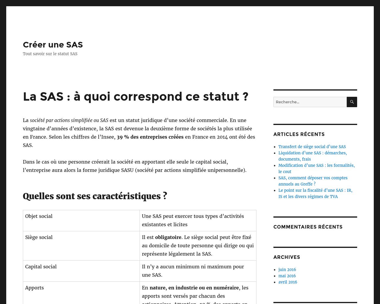 Quelques conseils pertinents pour créer une SAS